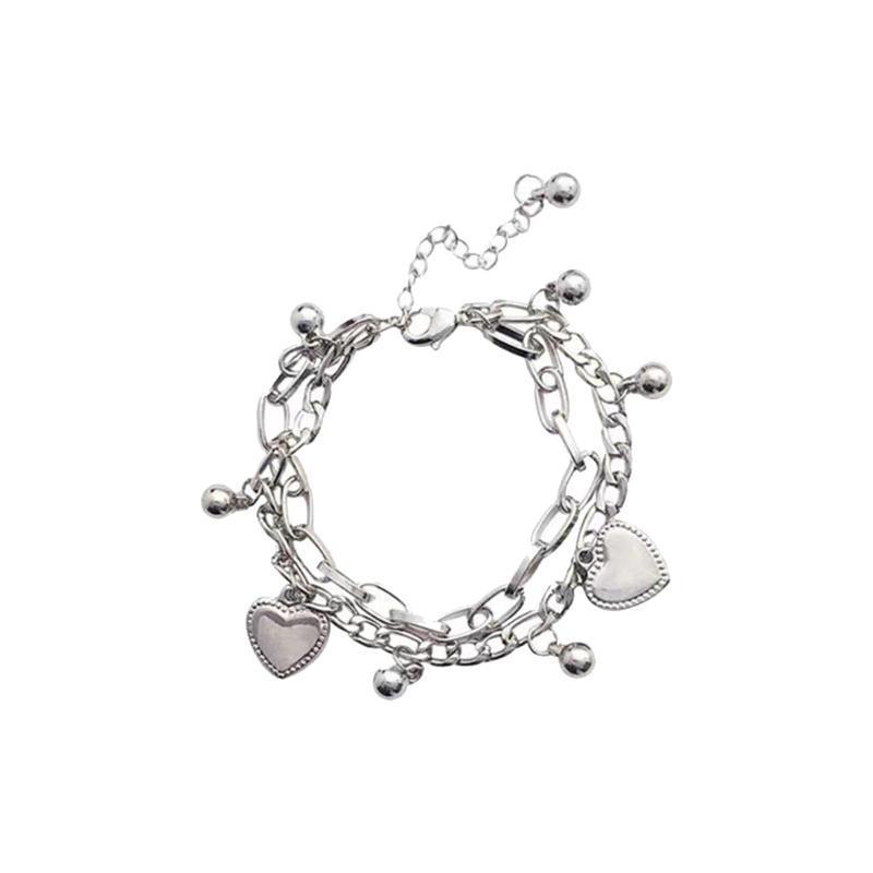 Braccialetto di stile di hip-hop del braccialetto a forma di cuore di stile semplice della donna per gli ornamenti dei gioielli delle donne