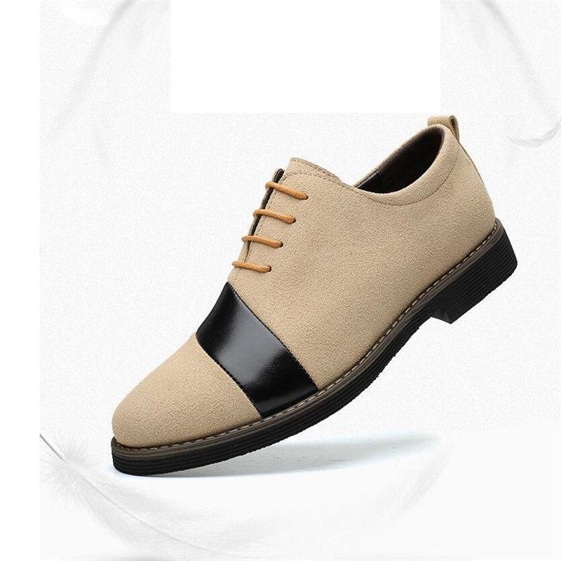 2020 New Business Kleid Schuhe Herren Schwarz Braun Veloursleder Freizeit Geschnitzte Brogue Gentleman Schuhe Formal Männer Hochzeit Schuhe