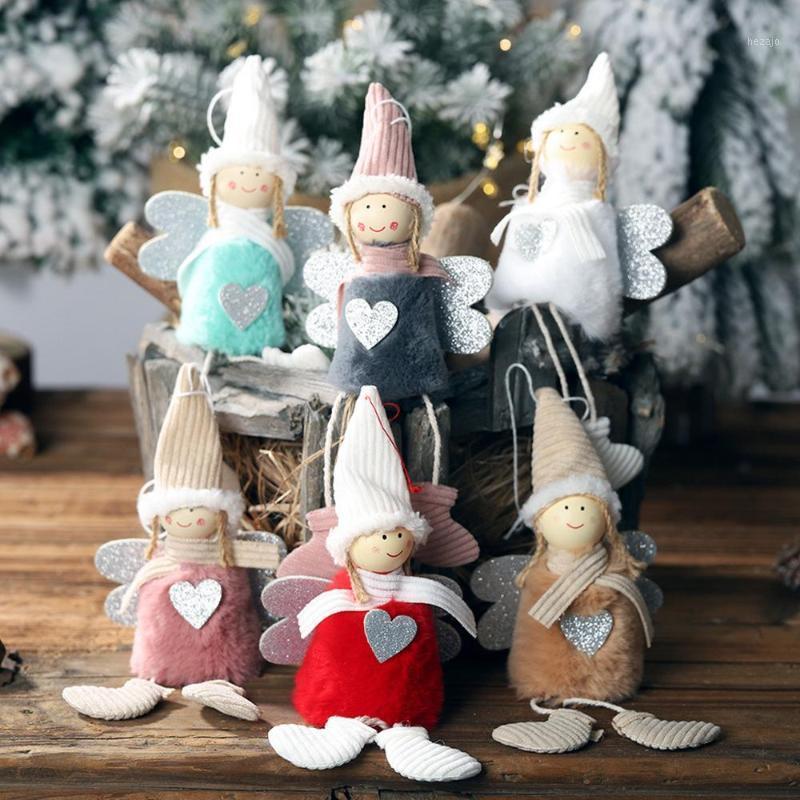 Decoraciones de Navidad Adornos de muñeca de Pom Cute Creative Tree Colgante Colgante Decoración de la ventana Escena de la ventana Suministros de diseño # 15F1