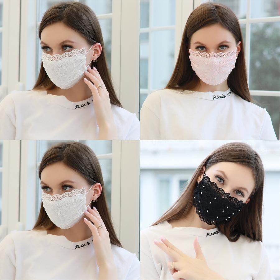 Boca de cara blanca Máscara no tejida anti respirador Imprimir máscaras Contaminación transpirable para # 468 QPCXS