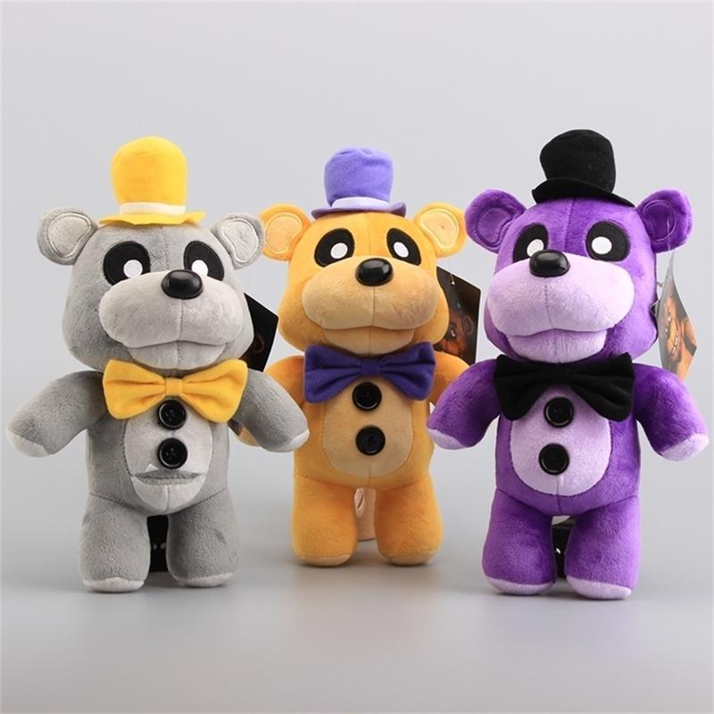 """3 Renk FNAF Freddy Fasıl Beş Gece Freddy Fazbaer Teddy Bebek Peluş Oyuncaklar Dolması Hayvanlar Xmas Hediye 12 """"30 cm 201214"""