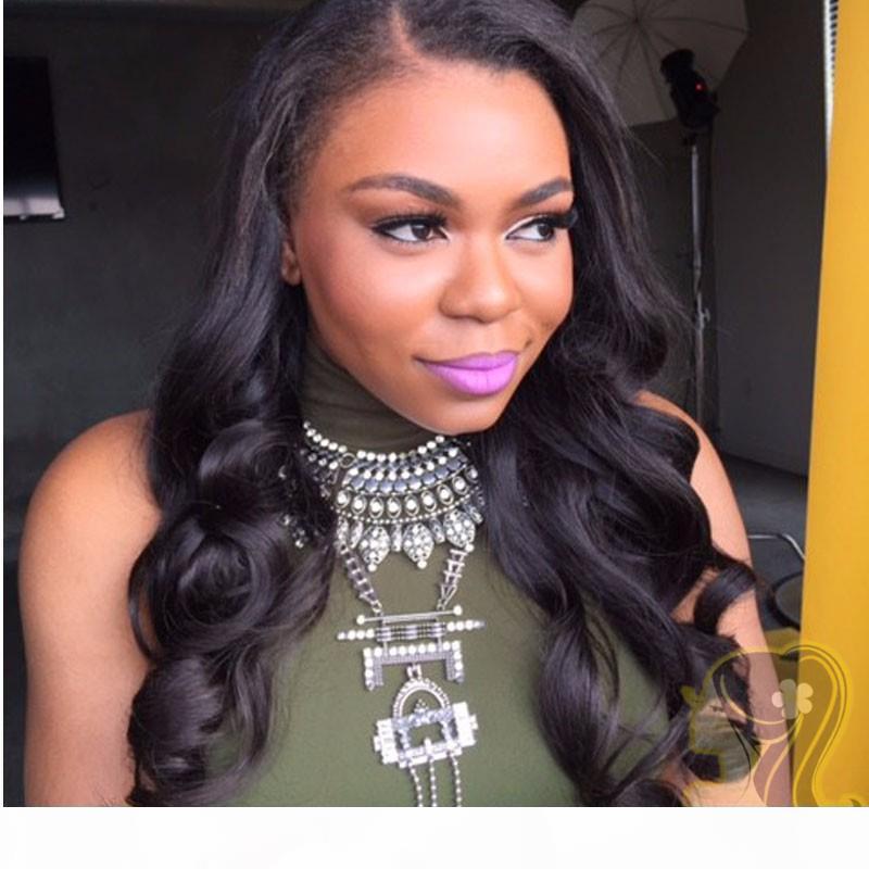 Индийские человеческие волосы кружевные фронтские парики для чернокожих женщин волна тела волнистые блестящие полное кружева человеческие волосы парики 130% плотность Бесплатная доставка