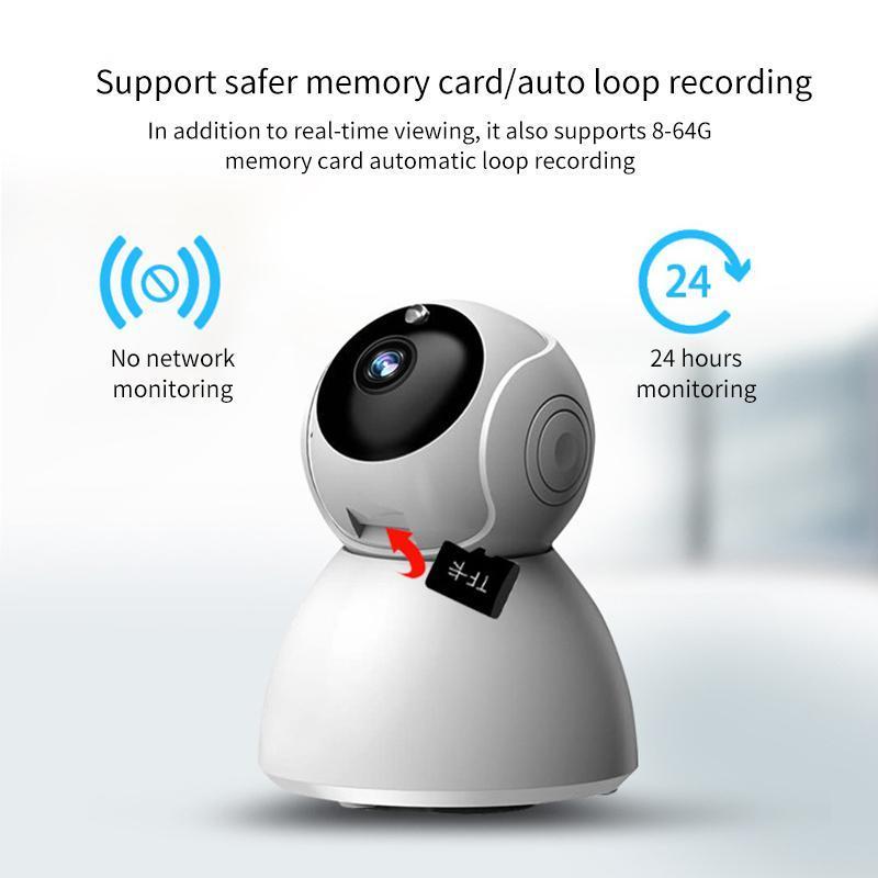 Беспроводная камера Baby Monitor Two-Way Audio Home Security Крытый мини Аудио Радионяня CCTV IP-камера обнаружения движения сигнализации