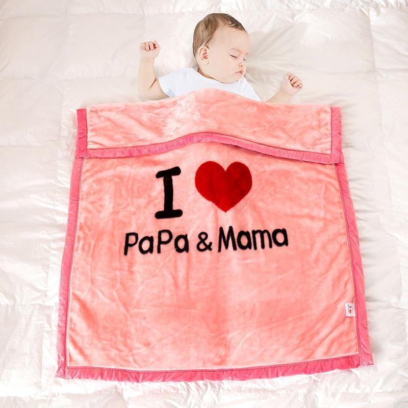 Cobertores de bebê amor papa mama cama cobertor manta lance cobertor para crianças sofá colcha cadeia cama colcha montas para sofá decorativa1