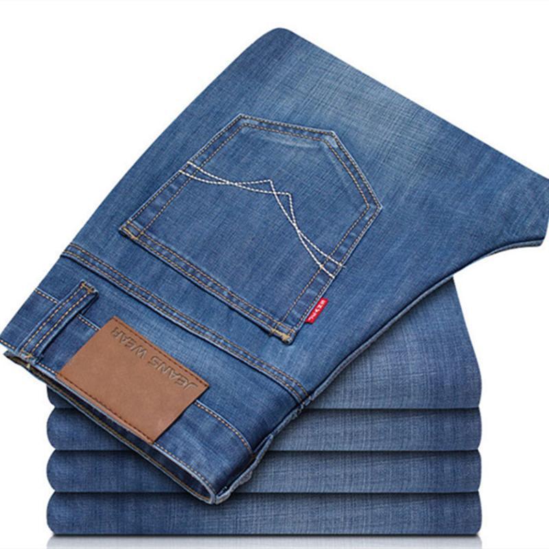 Pantalons hommes Casual Wear Jeans droit Longueur pleine Bonne Qualité Grande Taille Mode Trois Couleurs Tendance Slim air cool confortable