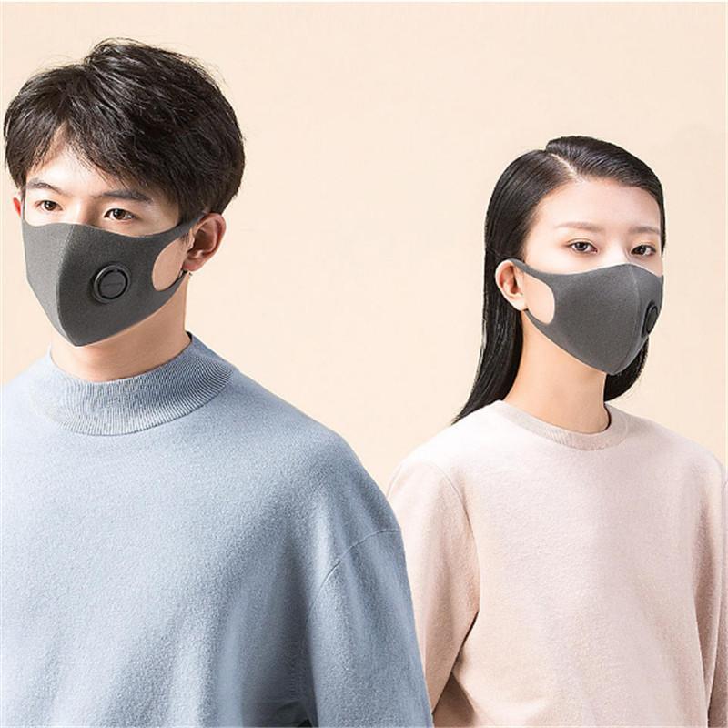 Nueva máscara de filtro PM2.5 Haze máscara a prueba de polvo con válvula de ventilación TPU Material Diseño 3D EWA1954