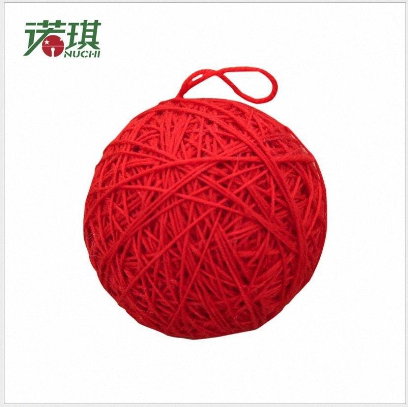 Quarto Navidad Red Knitting Lã Árvore bolas bolas decorações da festa de Natal Enfeites de Natal Decoração do partido Decoração kZFX #