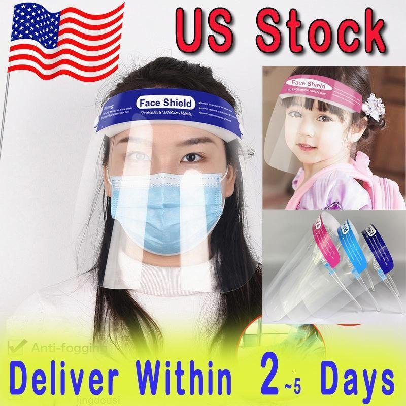 Maske Schutzgesicht SHIELD CLEAR US-Anti-Nebel-volle Gesicht Stock-Masken Transparente Visier Schutz Sicherheit Haustier für Erwachsene Kinder CHQ1
