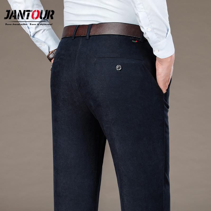 Marca Traje Pantalones para hombre Vestido de negocios Pantalones Sólido Color suelto Pantalones largos largos Masculino Formal Formal Grey Gris Pantalones 29-40 C1018