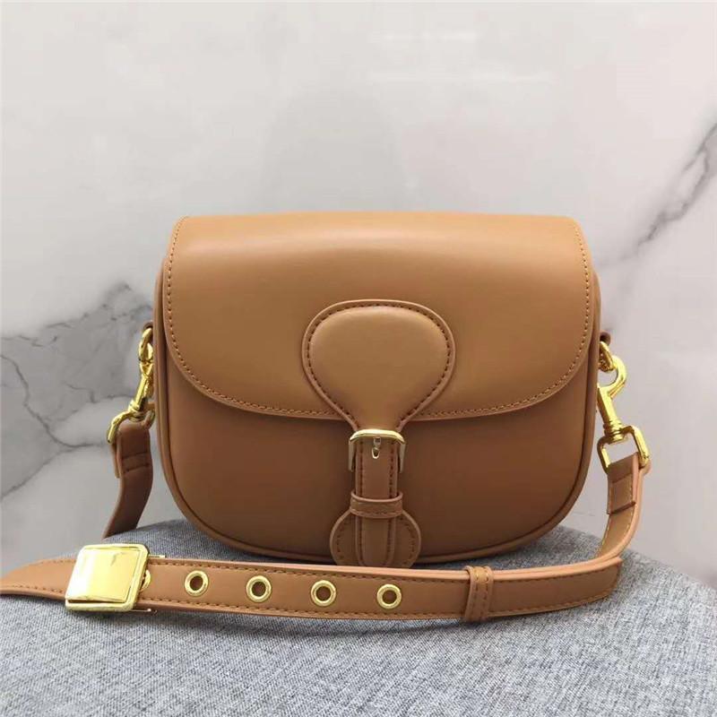 Retro half round Saddle Bags 2020 new Leather One Shoulder bag Messenger Bag Fashion versatile small Montaigne women's bag
