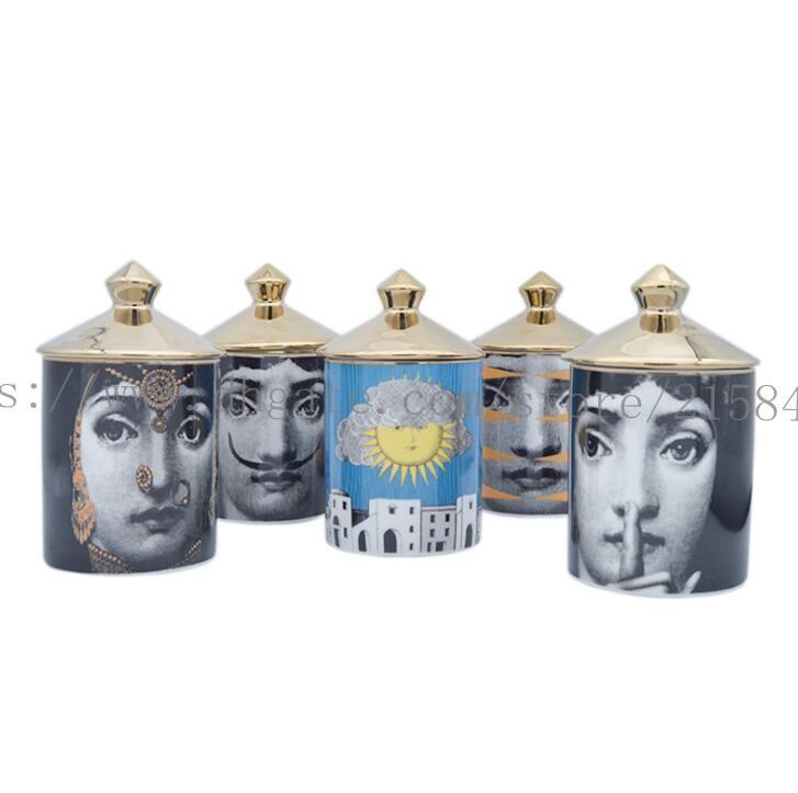 Titulaire de bougie en céramique Retrao Bricolage à la main Bougies à la main Vintage Bac de rangement Cafte à la maison Décoration Jewerlly Boîte de rangement