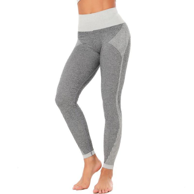 اليوغا تتسابق رمادي سلس اللياقة البدنية الرياضة طماق الجوارب ضئيلة تشغيل الرياضية السراويل النساء المرقعة ممارسة السراويل الملابس