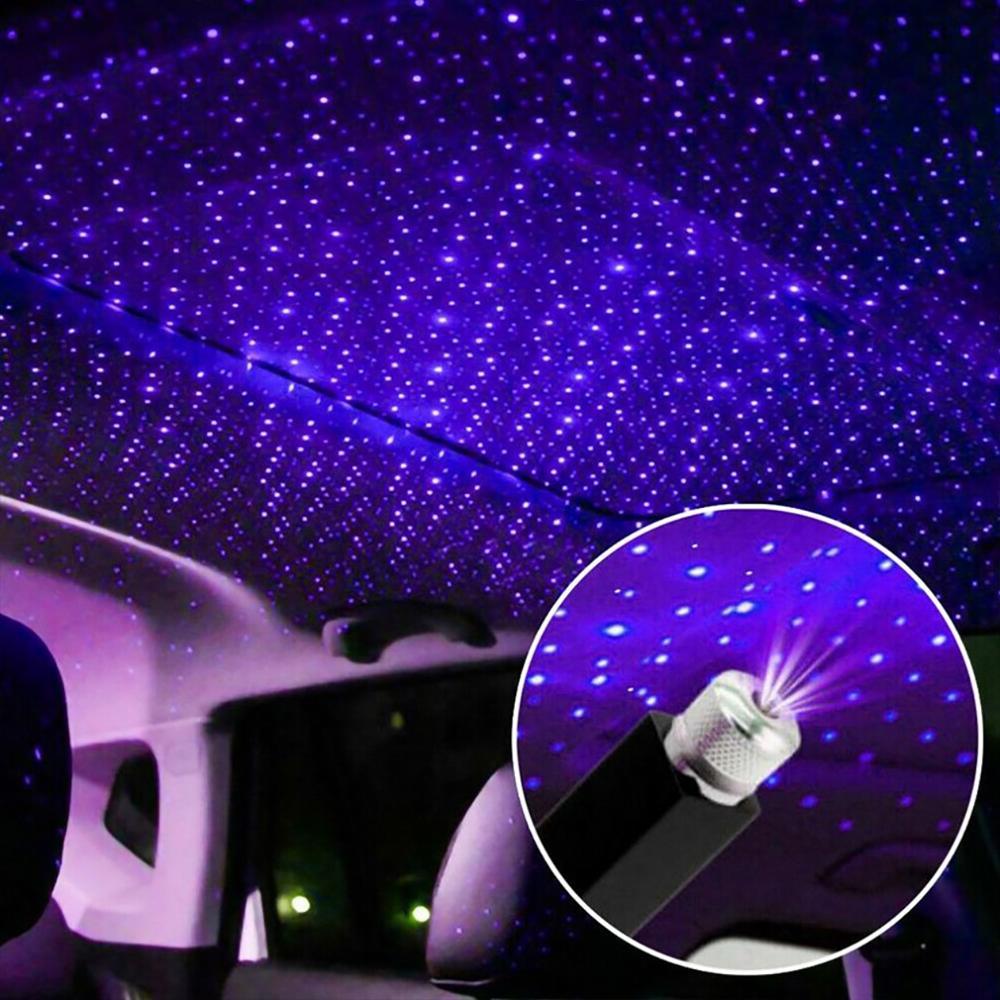 미니 LED 자동차 지붕 별 밤 조명 프로젝터 분위기 갤럭시 램프 USB 장식 램프 조정 가능한 자동차 인테리어 장식 빛