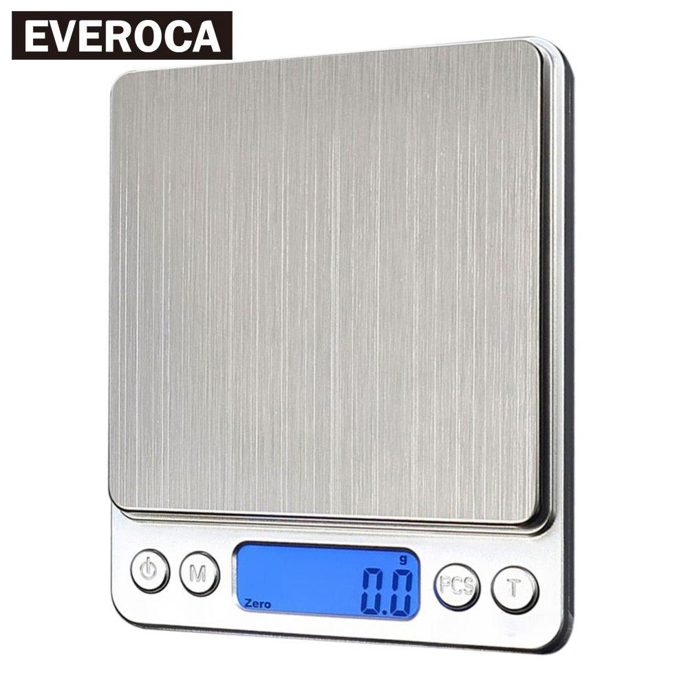 1000 / 0.1g Mutfak Elektronik Ölçekli Dijital Taşınabilir Gıda Terazi Yüksek Hassasiyetli Ölçüm Araçları LCD Hassas Un Ölçeği Ağırlık T200326