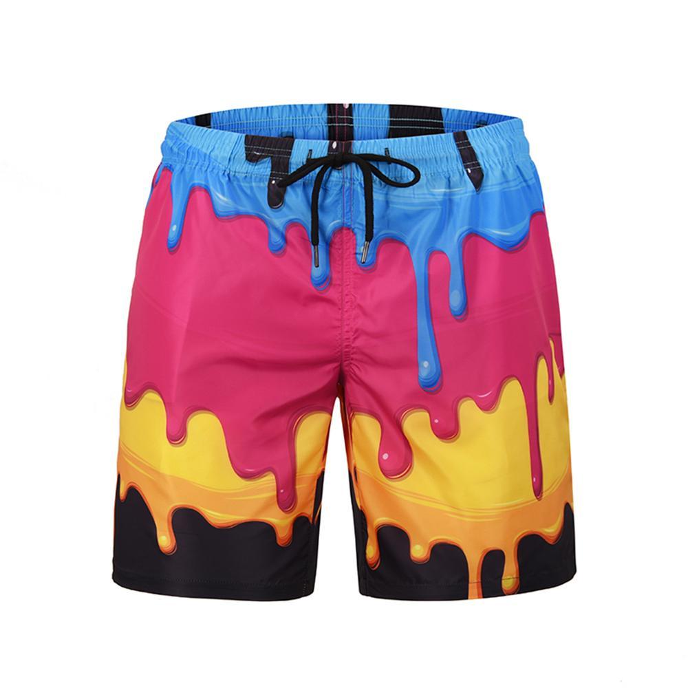 Shorts de la planche de polyester pour hommes Summer Beach Short Short de bain à séchage rapide