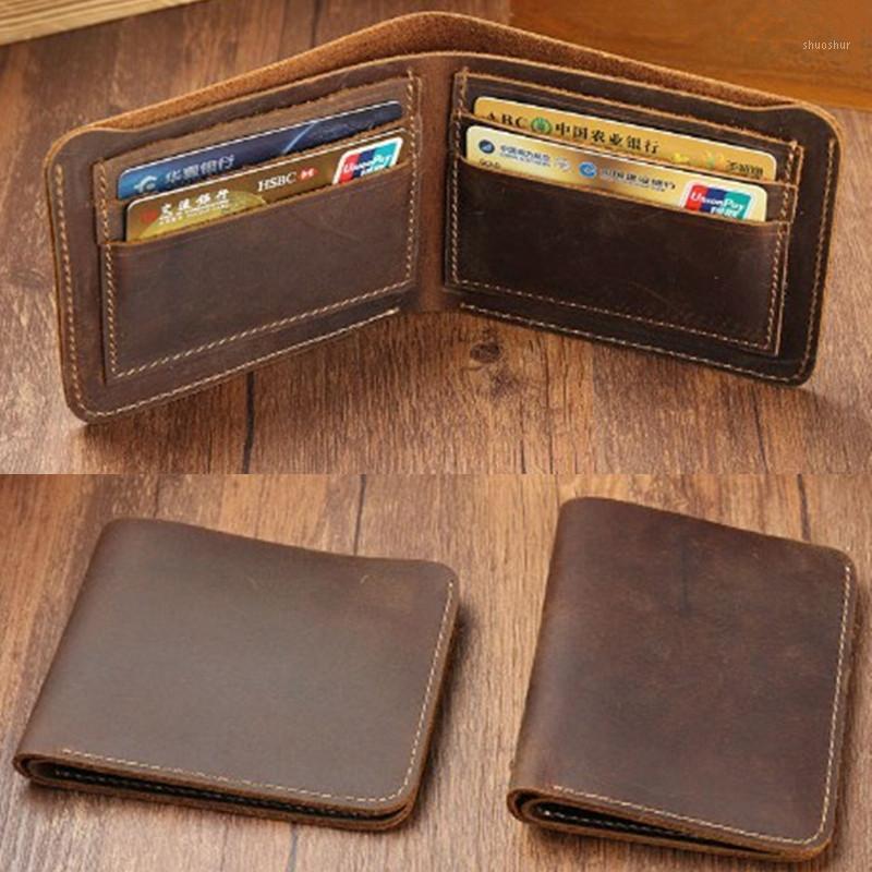 Homens Vintage Couro Luxo Carteira Sólida Curto Slim Masculino Bolsas Dinheiro Clipe Produto Business Masculino Purse1