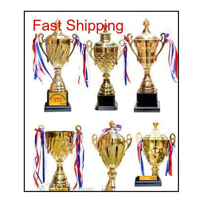 Resin Championnat D'Europe De Football Trophy Médailles Ligue des Champions Or / Argent 2018 2019 2019 ميداليات كأس الكأس الأخرى 2IJJQ