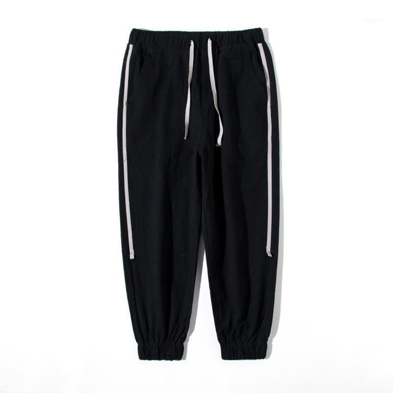 MOGU Verão New Streetwear Calças de Fitness Homens Hip Hop Calças Mens Jogadores Casuais Homens Harajuku Corredores Sweatpants para 3 cores1