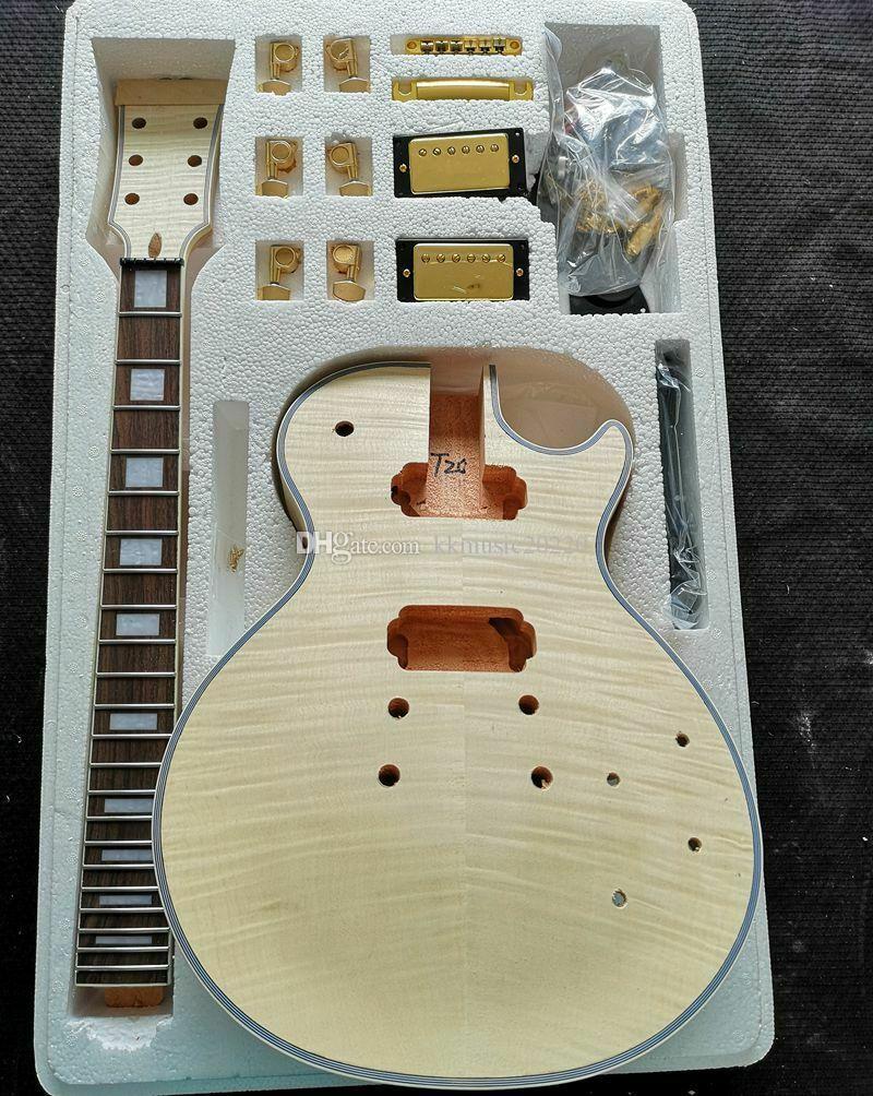 incompiuta Miglior 1 set fai da te non finito della chitarra del collo e del corpo per il kit di chitarra in stile LP tutti parte