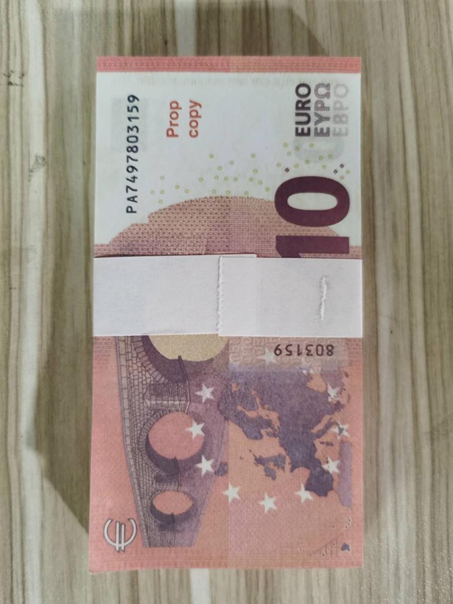 Prop bar valuta 10 euro bambini prop giocattolo per adulti gioco prop gioco speciale filmato euro dollaro fase libbra soldi 015