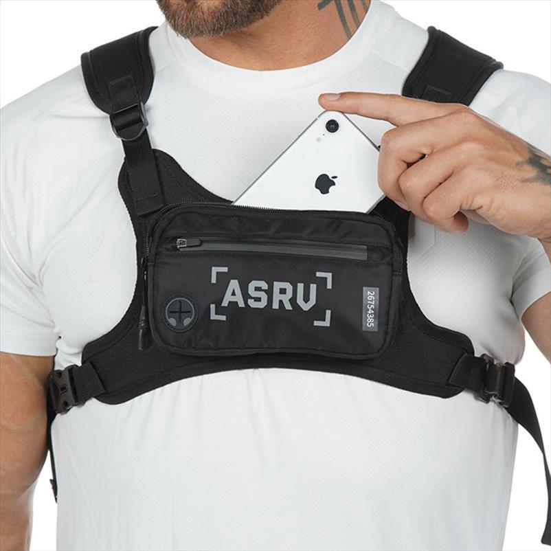Pequeño chaleco de teléfono Paquetes tácticos a prueba de agua Bolsa de pecho a prueba de agua Deportes de moda para cintura táctica Hombres funcional Bolsa Rig Kowjw