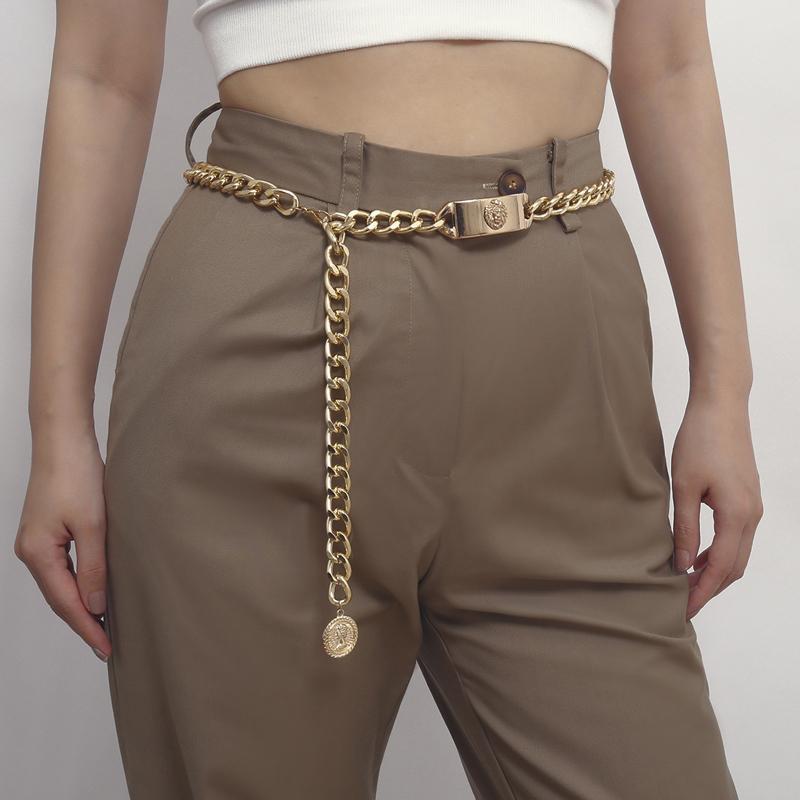 Gold Chain Ceinture Femmes 2020 Ketting Riem Taille Accessoires Robe Cummerbunds Sexy Body Bijoux Courroies Dames Jeans Cintos 1012