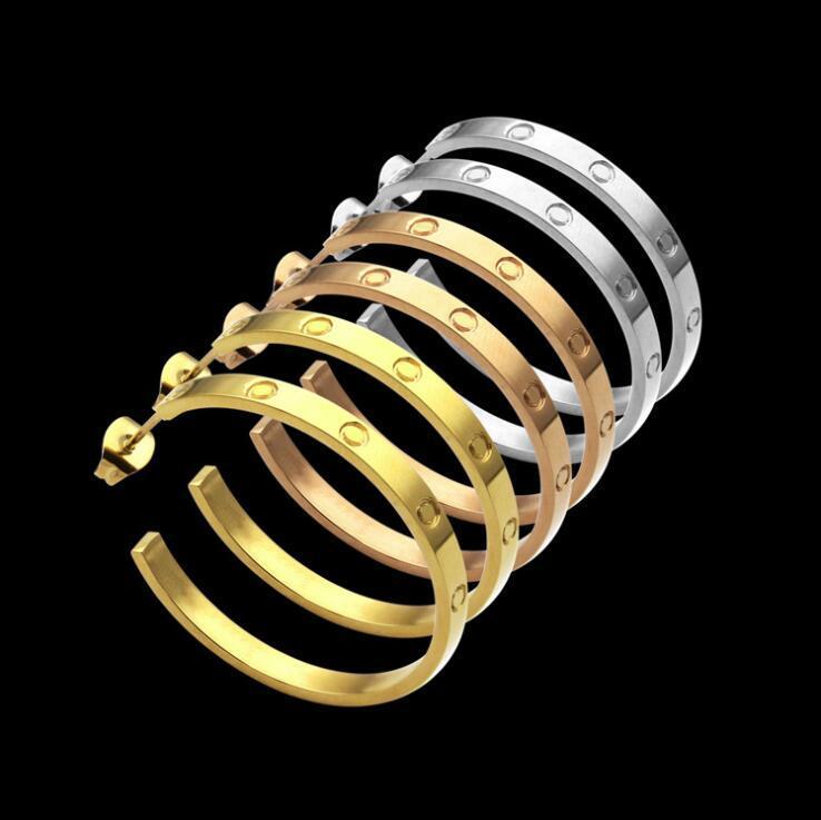 2021 EXAGÉRÉ EUROPÉEN EUROPÉEN 316L Acier inoxydable 18K argent Gold Rose Grand cercle cercle Boucles d'oreilles de mariage bijoux d'amour pour les filles femmes