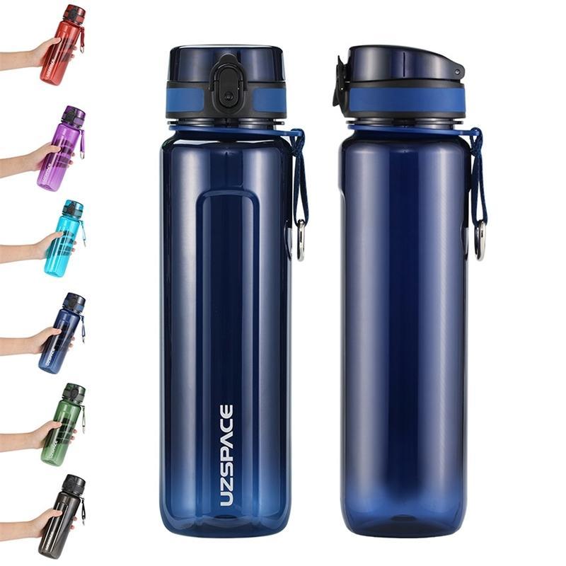 Esportes Garrafa de Água 500ml 1000ml Protein Shaker Outdoor Viagem Escalada Ginásio Tritan Bebida Pláâmica Portátil BPA BPA grátis 20118