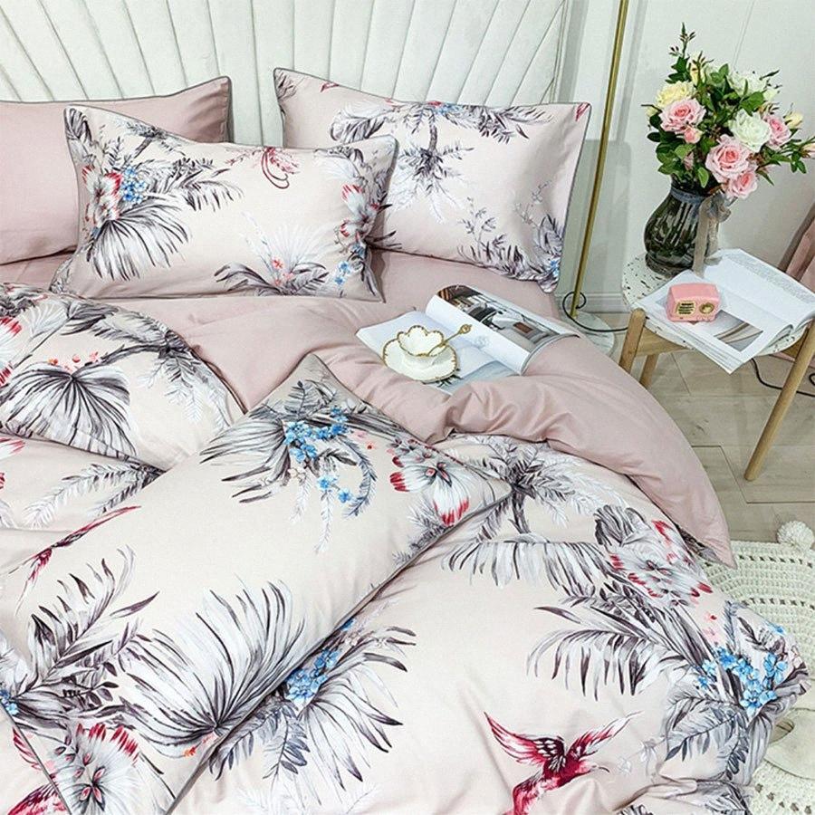 Fiore americano europeo Uccello Bedding Set Girl, completi Regina Re 60 cotone doppio Home Textile lenzuolo federa Quilt Cover Girls B VCAM #