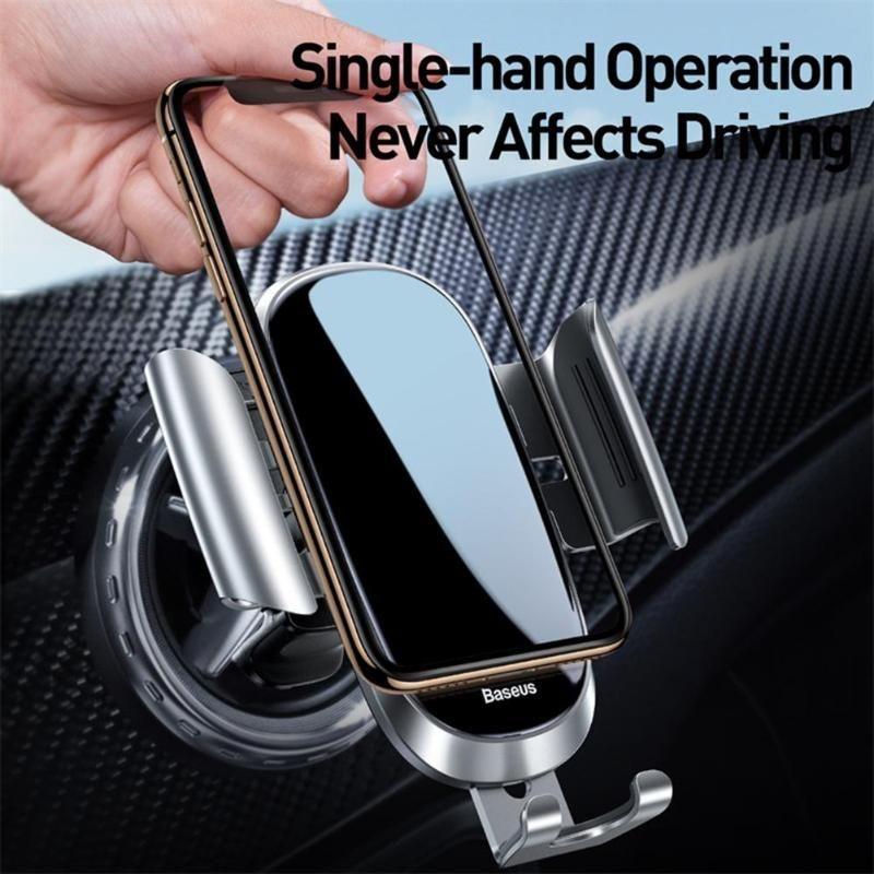 Gravidade Car Phone Holder Bracket Rodada saída de ar Monte Levante Sem suporte de telefone celular Magnetic Para Iphone XS XR Samsung Mobile Phone