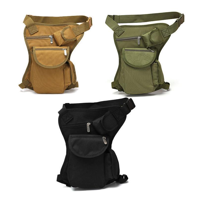 야외 가방 전술 방수 드롭 유틸리티 허벅지 주머니 허리 팩 스포츠 승마 다리 가방 메신저 사냥