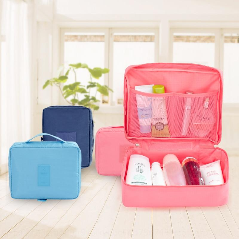Korean Reise Lagerung Lagerung wasserdichte Polyester Waschbeutel beweglicher Spielraum beweglicher Kosmetiktasche kann qGXVv
