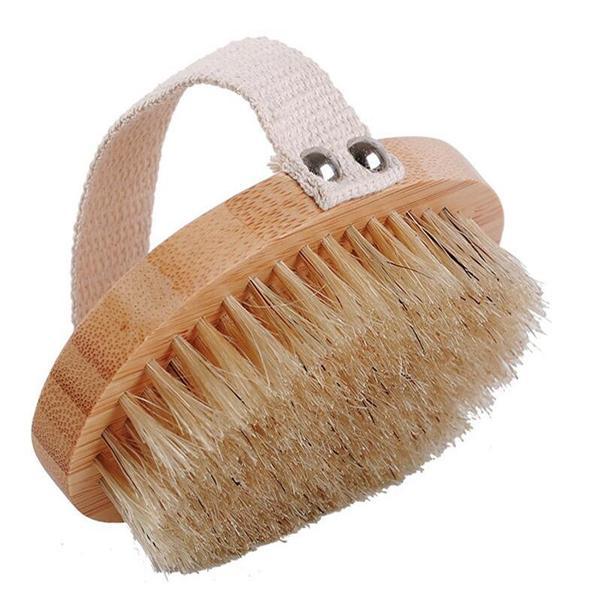 Bamboo bath brush wash back clean bath brush