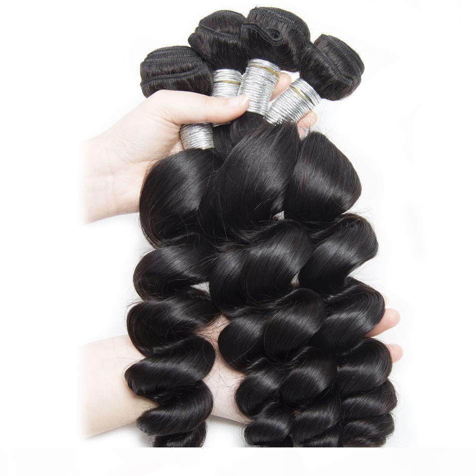 Großhandel 9A Malaysian Lose Welle Jungfrau Haar 3 4 5 10 Bündel Unverarbeitete Remy Human Hair Verlängerung Bündel Schneiden von einem Spenderhaar