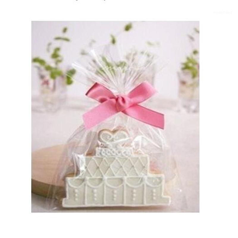Moda 100 pçs / lote 12x25cm Cookie Embalagem Básico Transparente Sacos Plásticos Para Biscoitos Snack Baking Package Bolo De Armazenamento Bag1
