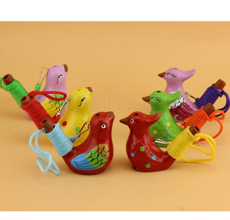 Água de cerâmica pássaro apito manchado canção toutinegra chilrear casa decoração para crianças crianças sqcicv hairclippershop