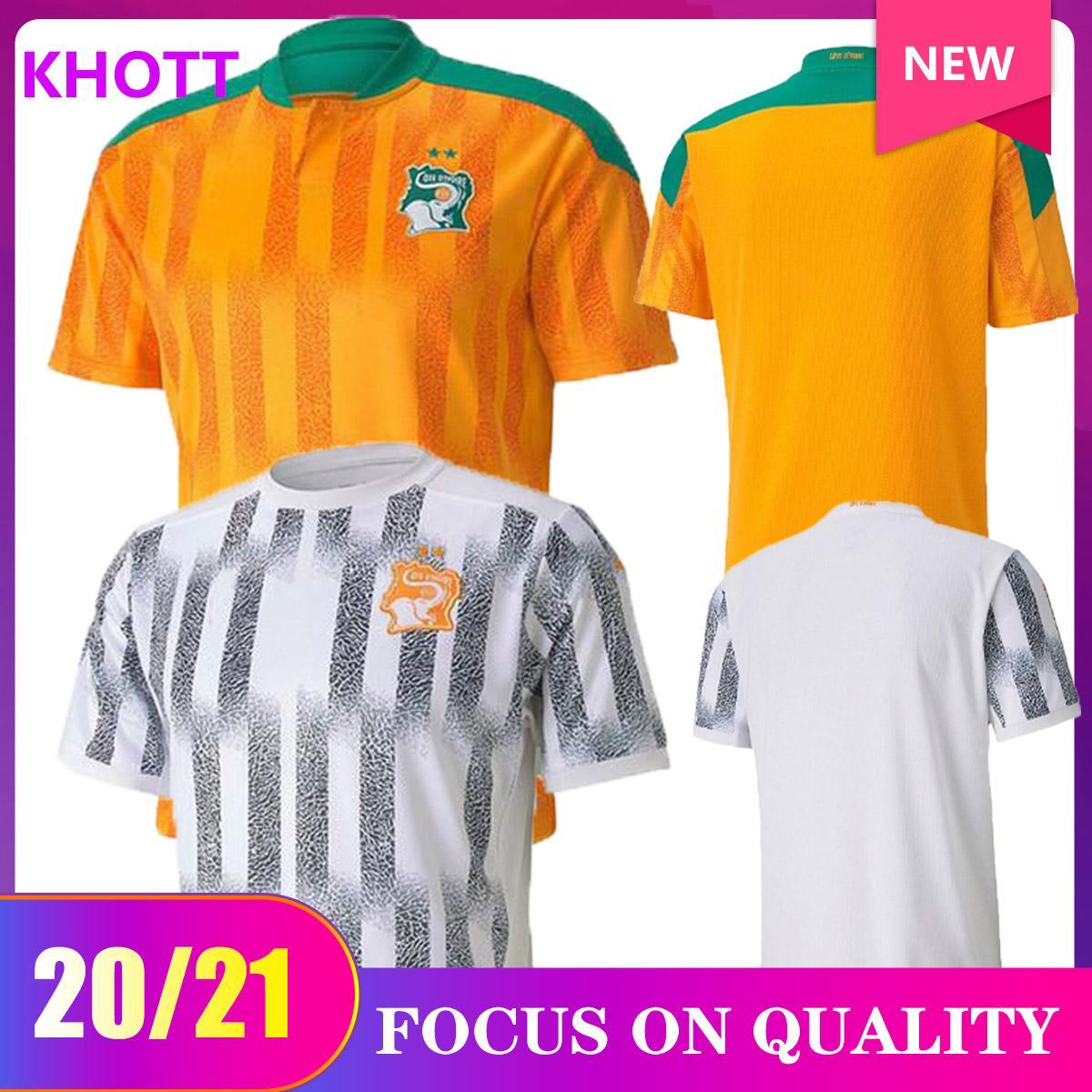 2020 2021 Costa d'Avorio squadra nazionale di calcio maglie costa d'avorio DROGBA Kessie Zaha CORNET UOMO homme Maillot de foot calcio Uniformi uomo