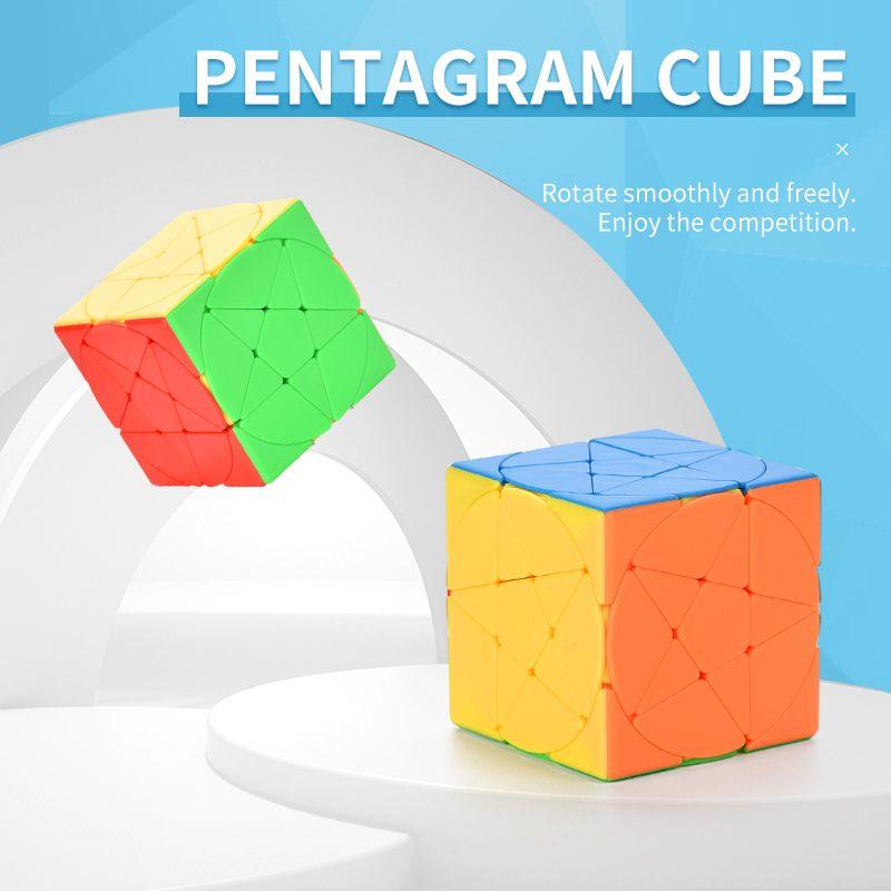 Пятиконечная звезда Cubik's Cube Cube DIY Rubik's Cube Puzzle Pentagagram Magic Cube Обновить Challenge TW2009168