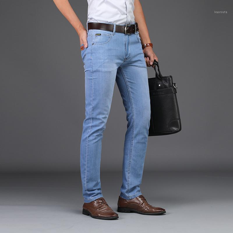 2020 летние деловые джинсы стиль UTR тонкие легкие мужские джинсы мода мужской случайные джинсовые мужские тонкие оптовые1