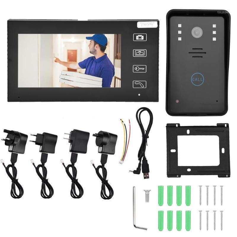 7inches TFT 2.4G Wireless Visual Doorbell Intercom Video Door Phone Home Security on sale HOT1