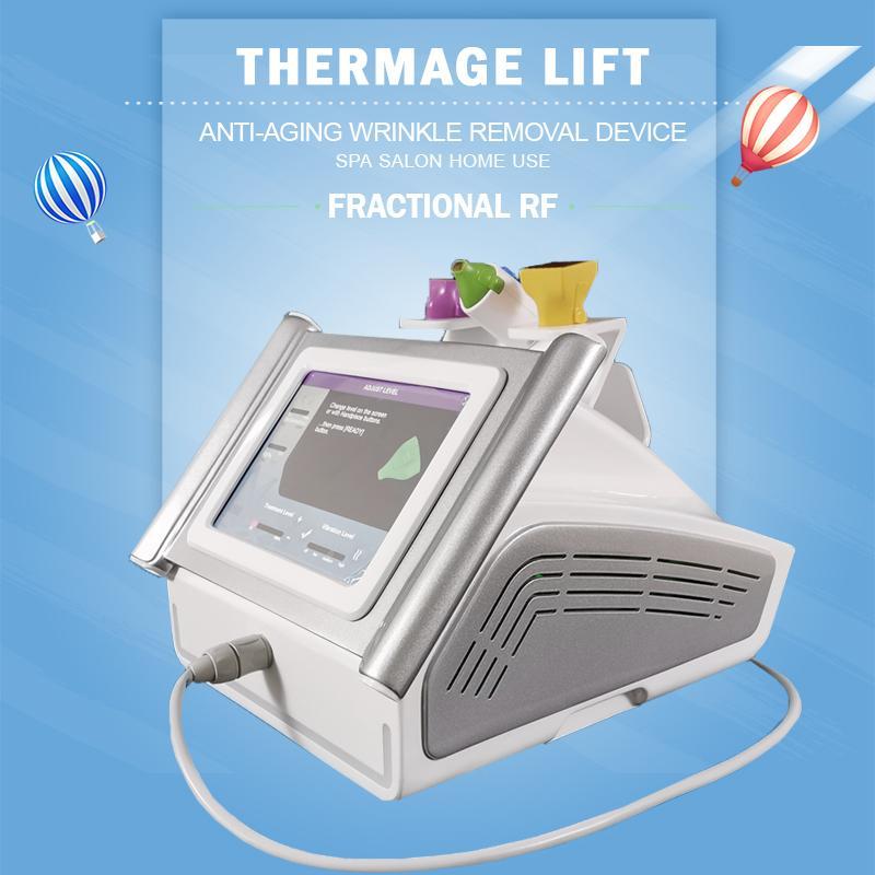 Tragbare Thermage Heben HF-Thermagemaschine Gesichtheben Anti-Aging-Auge Gesichtskörpernachricht Fraktionale RF-Ausrüstung zum Verkauf
