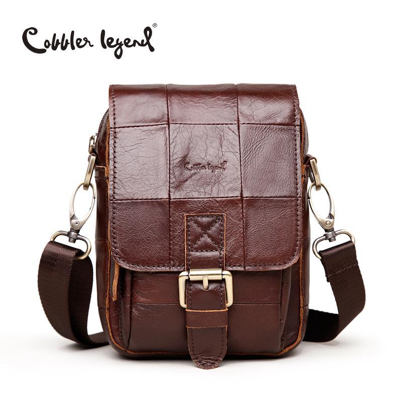 Cobbler Legend Mode Marke 2019 Neue Männer Vintage Echtes Leder Messenger Bag Männer Männliche Rindsleder Crossbody Taschen für Männer