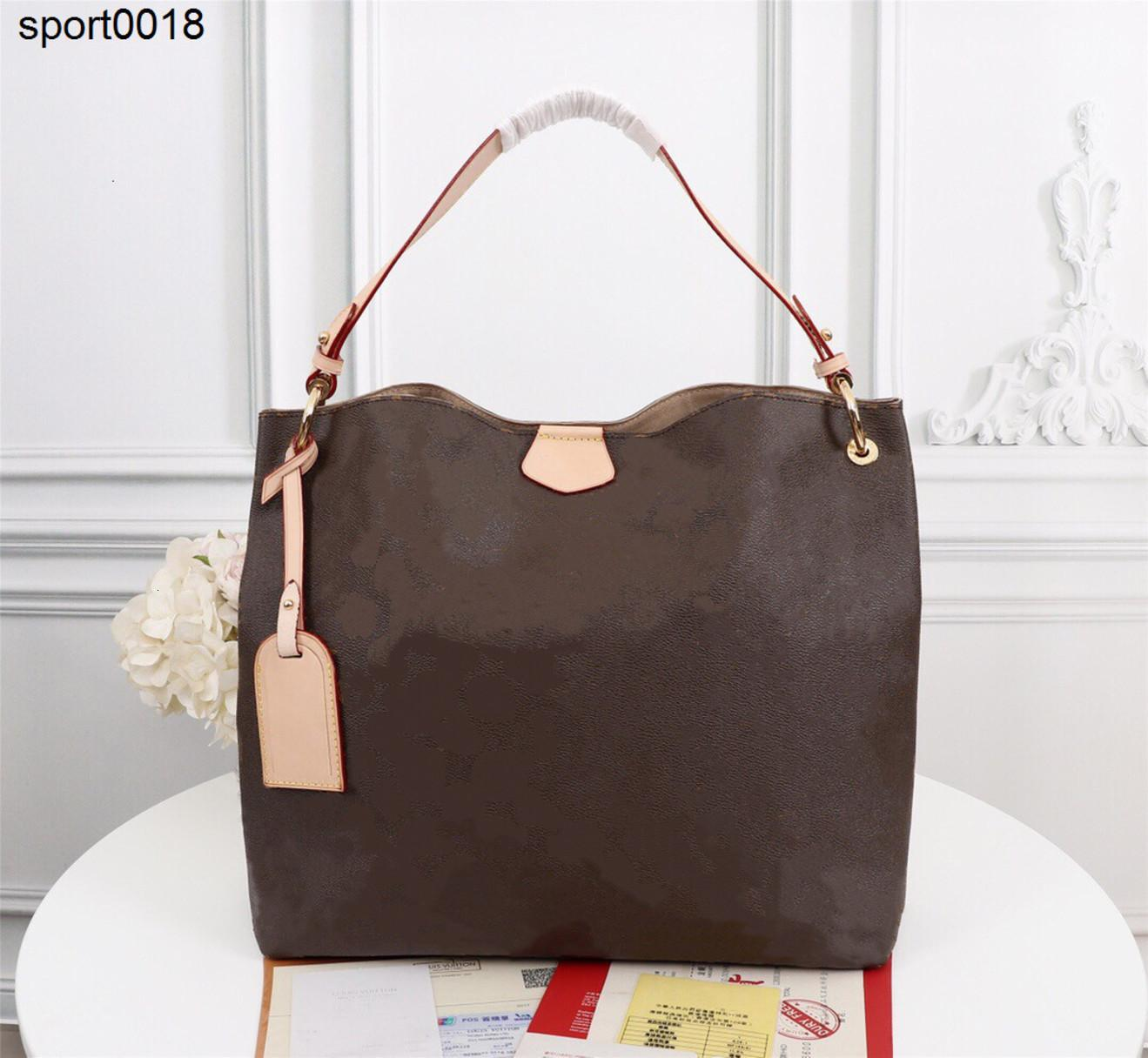 2021 mm PM Hobo in Classic Coated Canvas Extra-Stamyly Lightweight Genuine Pelle Cinturino Flat Strap Lady Borsa a tracolla