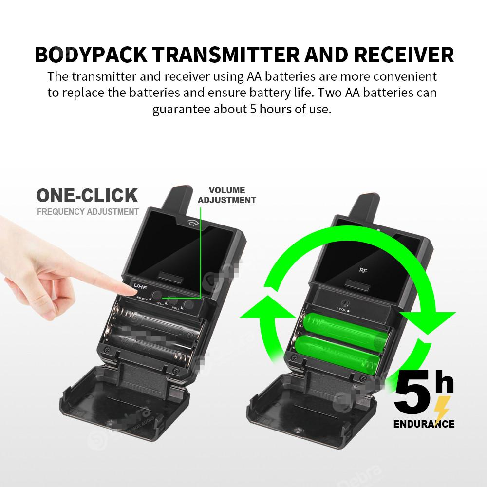 Freeshipping piccolo microfono wireless diaframma wireless con funzione monitor audio UHF MIC wireless per smartphone DSLR Telecamere webcast