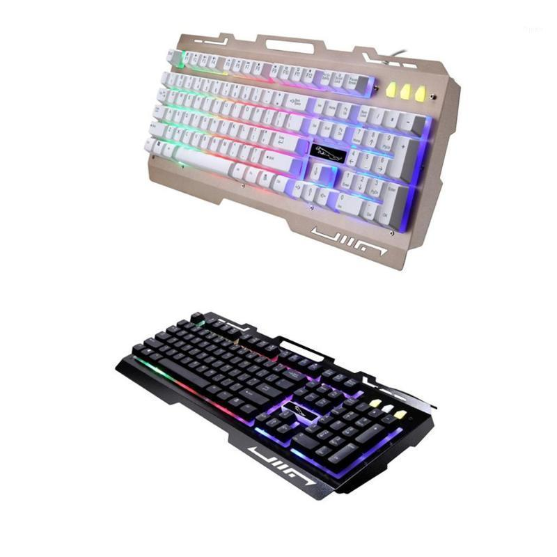 Wired USB RGB Gaming Keyboard Colorido LED retroiluminado Desktop Computer Gaming Keyboad Cool Iluminado Laptop Techeypad1