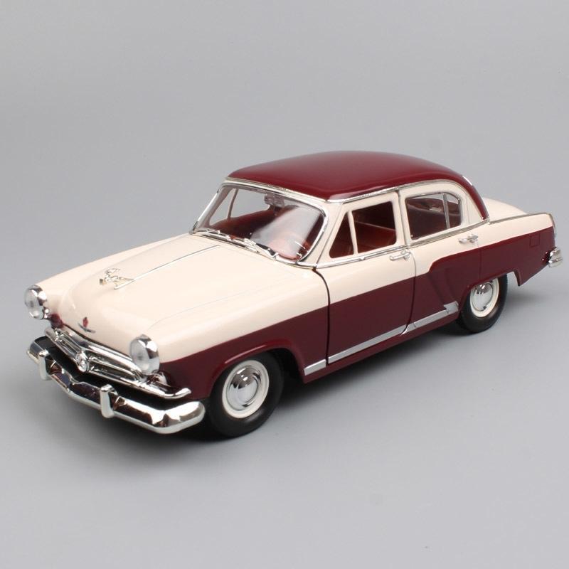 1:24 مقياس روسيا الاتحاد السوفيتي gorky goz 21 m21 فولغا صالون 1957 الكلاسيكية الرجعية دييكاست سيارة نموذج سيارة مصغرة سيارة لعبة للطفل Y200109