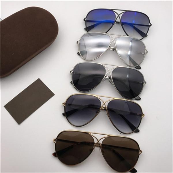 Pilot Fashion Tom Sunglasses Occhiali da sole Occhiali da sole Occhiali da uomo con 0488 Lenti New Designer Metallo Sun Donne Trend Ford Eyewear UV400 per scatola BHWSM