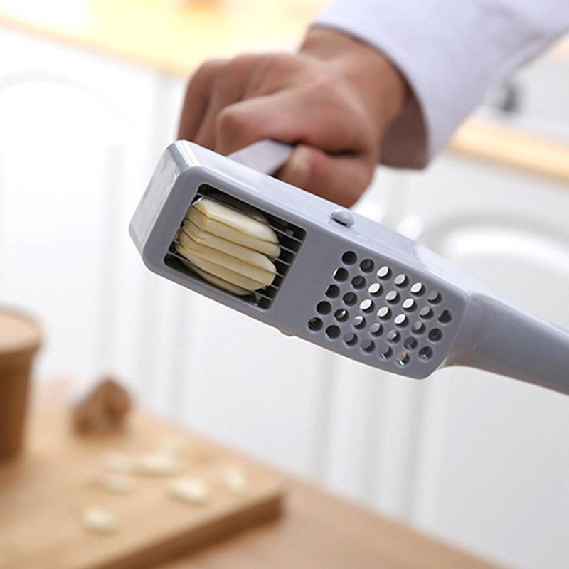 Новый чесночный пресс слайсерский алюминиевый чеснок имбирный слайсер с нарезкой шлифовальный кухонный варочный инструмент 201201