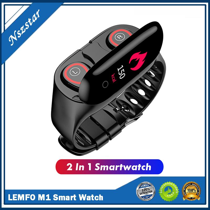 LEMFO M1 Headphones and watches 2-in-1 Smart Watch With Bluetooth Earphone Smart Wristband with Wireless Headphone