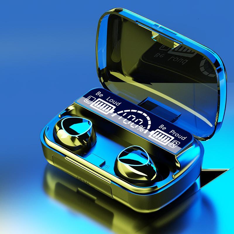 A10 TWS Bluetooth 5.0 inalámbrico de alta fidelidad en la oreja los auriculares con la caja de carga digital Touch Control cancelación de ruido Auriculares inalámbricos